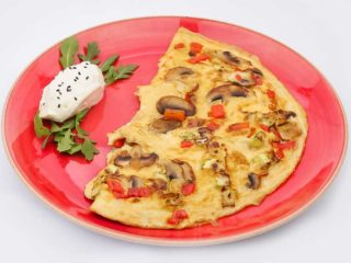 Fit omelet with vegetables delivery