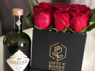 Roses in a box delivery