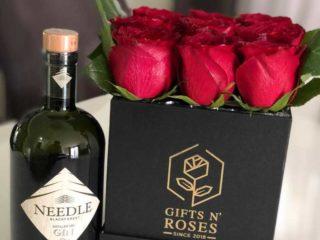 Ruže u kockastoj kutiji dostava