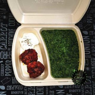 Spinach and minced steak  meal delivery