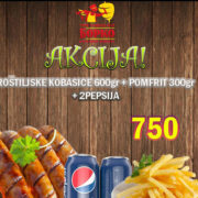 Grill sausages 600g + french fries 300g + 2 x Pepsi