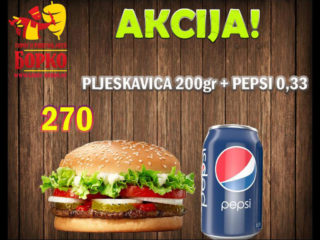 Pljeskavica 200g + Pepsi 0.33L dostava