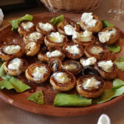 Stuffed mushrooms with kajmak