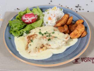 Turkey in gorgonzola sauce delivery