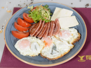 Eggs with ham delivery