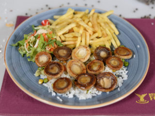 Grilled mushrooms delivery