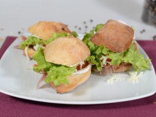 Sandwich with prosciutto delivery
