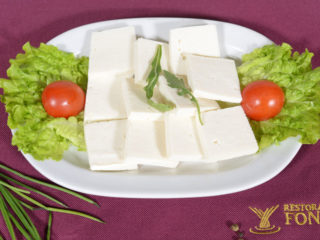 Slices of white cheese delivery