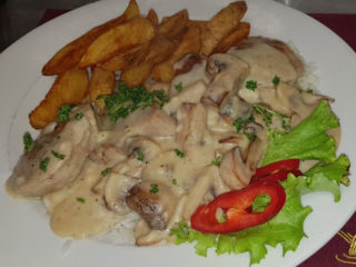 Pork medallions with mushrooms delivery