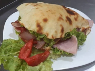 Pizza sandwich with ham delivery
