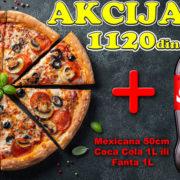 Pica Mexicana 50cm + Coca Cola 1L ili Fanta 1L