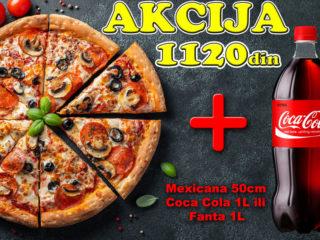 Pica Mexicana 50cm + Coca Cola 1L ili Fanta 1L dostava