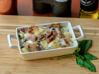 Baked gnocchi wtih prosciutto or bacon delivery