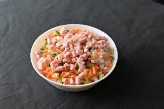 86. Pirinač sa povrćem, šunkom i jajima dostava